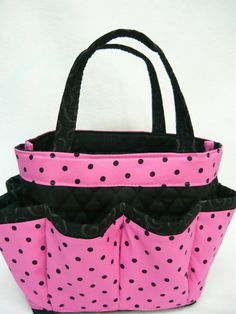 Polka  dot in pink Large bingo bag  /great for by sewtrendyrose, $20.00