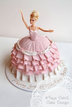 Now THAT'S how you do a Barbie cake!!!  By Faye Cahill Cake Design