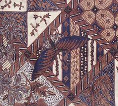 Old Batik Dutch - sogan caramel - detail 1of2