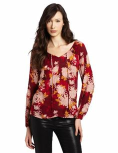 Lucky Brand Women's Rhiannon Printed Woven Blouse « Clothing Impulse