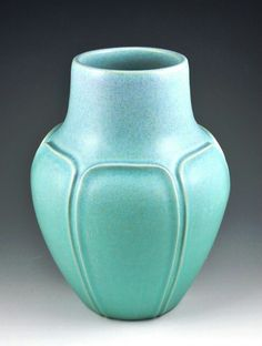 #CAPCA | JW Art Pottery | Jacquie Walton | Paneled Vase | Arts & Crafts