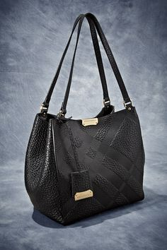 Grab #Burberry's 'Canterbury' Plaid-Embossed Tote as your go-to bag for an afternoon of holiday shopping!