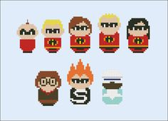The Incredibles parody Cross stitch PDF pattern by cloudsfactory