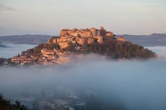 Cordes sur Ciel. This extraordinarily well preserved little town sits high on a hilltop in southern France in the Tarn département, which forms part of the Midi-Pyrénées.