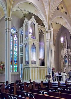 2-manual, 38-rank A E Schlueter pipe organ designed for St Mary Catholic Church in Evansville, Indiana