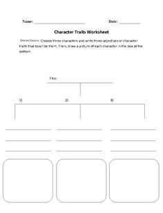 Character Development Character Analysis Worksheet  Smart Fart
