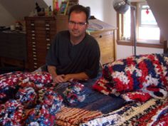 Jerry Bleem, Chicago. See his chapter in The Fine Art of Crochet by Gwen Blakley Kinsler