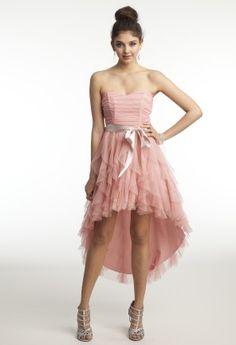 Strapless Hi-Lo Dress with Cascading Ruffles from Camille La Vie and Group USA #homecoming #homecoming2013 #homecomingdresses