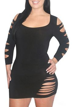 Plus Barracuda Club Dress Black Sexy Lingerie $20.99