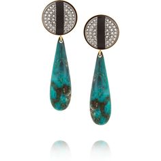 Elizabeth Cole Gold-plated marcasite, lucite and glass earrings ($79) ❤ liked on Polyvore featuring jewelry, earrings, teal, gold plated earrings, glass jewelry, gold plated jewelry, teal jewelry and acrylic jewelry
