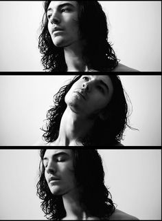 First Ezra Miller photo on my board.      Perfect.  Black and White -always a Classic.