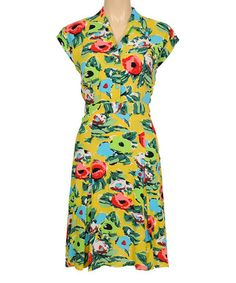 Love this Mimosa Yellow Renoir Doris Shirt Dress by Louie et Lucie on #zulily! #zulilyfinds