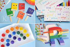 love the rainbow clothes pin activity