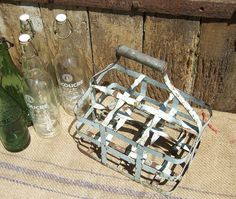 Vintage French Bottle Crate