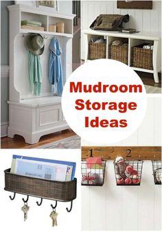 Love these mudroom storage ideas!