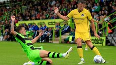 Forest Green Rov 2 Bristol Rov 0 in July 2017 at the New Lawn. Action as Forest Green take the friendly honours.