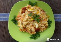 Alföldi rakott tarhonya Hungarian Recipes, Hungarian Food, Risotto, Cookie Recipes, Cauliflower, Macaroni And Cheese, Bacon, Grains, Food And Drink