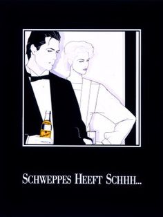 Dutch Schweppes poster by Patrick Nagel Nagel Art, Patrick Nagel, Arte Pop, Cyberpunk, Drake, Dutch, Girly, Posters, Illustrations