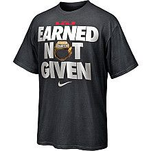Nike LeBron James 2012 NBA Finals Champions Earned Not Given Black Short  Sleeve T-Shirt dd5b4daab