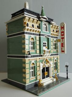 "LEGO Moc Modular ""Golden Cup Grand Hotel"" 001 by Jotabeeeeeee, via Flickr"