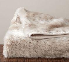 Faux Fur Throw - Light Fox #potterybarn   fall/winter bedroom   get XL size