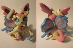 Sylveon Pokemon Polymer Clay Sculpture
