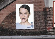 The Outdoor Advert titled RED BRICK WALL was done by BBDO Dusseldorf advertising agency for Tea Bon in Germany. Street Marketing, Guerilla Marketing, Red Brick Walls, Great Ads, Red Bricks, Advertising Agency, Billboard, Outdoor, Teeth