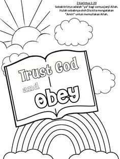 Trust and obey God.