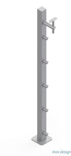 Poteau pour Garde-Corps d'escalier à remplissage Câbles/ Lisses #poteauxdesign