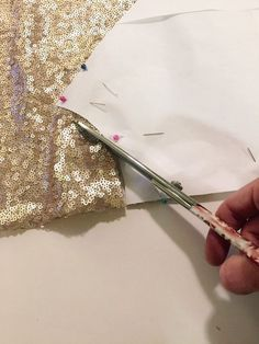Planning on sewing with sequins? Here's what you need to know BEFORE cutting into your sequin fabric!