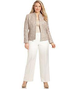 0c045d2fc31 Kasper Plus Size Suit Separates Collection   Reviews - Wear to Work - Women  - Macy s
