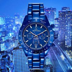 The world never sleeps, and you?  #TWcolors #ToyWatch #watch #watches #style #fashion #accessories #menswear #forhim #chrono #blue #city #metropolis #night #nightlife #lights