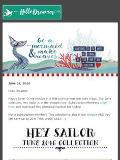 Be a mermaid and make waves. Get your dose of SEAHABILITION with this gorgeous nautical treat!