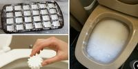 These DIY toilet bombs make keeping your toilet bowl clean a breeze! Just pop it in and let the natural ingredients make quick work of bacteria. Deep Cleaning Tips, House Cleaning Tips, Natural Cleaning Products, Cleaning Hacks, Toilet Cleaning, Bathroom Cleaning, Limpieza Natural, Homemade Toilet Cleaner, Natural Toilet Cleaner