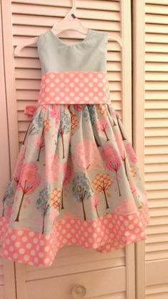 Pretty little trees using Cottage Mama party dress pattern.