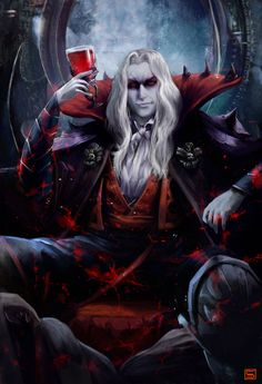 The Vampires Are Rich trope as used in popular culture. In most vampire fiction, vampires tend to be filthy rich or at least comfortably loaded. Gothic Vampire, Vampire Art, Dark Gothic, Gothic Art, Vampire Dracula, Dark Fantasy Art, Fantasy Artwork, Dark Art, Dracula Castlevania