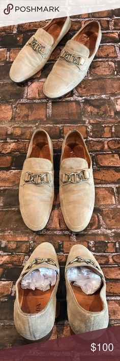 "PRADA Men's Suede Loafer Slide On Shoe in Taupe 12 ▪️PRADA ▪️Size: Men's 12 ▪️Color: Taupe w/ Silver Hardware ▪️Originally $480 ▪️SKU: P-9921 ♥️ Reasonable offers are welcome, through the ""Offer"" button below 😊 Prada Shoes Loafers & Slip-Ons"