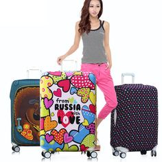 Cute 3D Maldives Island Beach Plam Tree Pattern Luggage Protector Travel Luggage Cover Trolley Case Protective Cover Fits 18-32 Inch