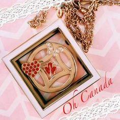 Oh Canada!  Gold Tone Diamond Locket.  www.SouthHillDesigns.com/TammyTamayo