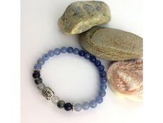 Náramek z minerálů Buddhovo štěstí – avanturín, turmalín v křišťálu