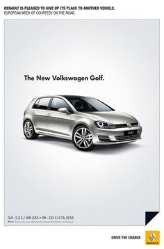 ルノーの新聞広告なのに、VWゴルフが全面に打ちだされている理由 : きよおと-KiYOTO
