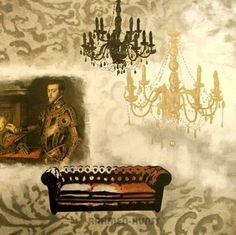 Valerie-Deleau-Vincennes-I-Fertig-Bild-70x70-Wandbild-Interieur-Barock-Leuchter