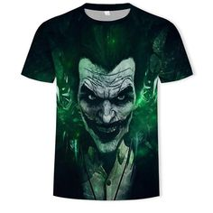 The Mischievous Brutal Joker Design Full Print T-Shirt Cute Tshirt Designs, Superhero Tshirt, Airbrush T Shirts, Custom Made T Shirts, Skull Art, My Outfit, Cool T Shirts, Casual, Print Design