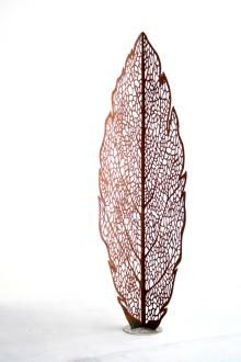Leaf skeleton sculpture by Lump