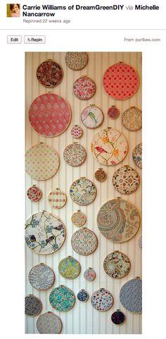 Pinspiration Monday: Embroidery Hoop Wall Art – DIY