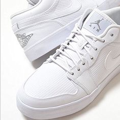 NWT Men's Nike Air Jordan Low Leather white sz 8.5 NWT Men's Nike Air Jordan Low Leather white sz 8.5 Brand New in original box Nike Shoes Sneakers