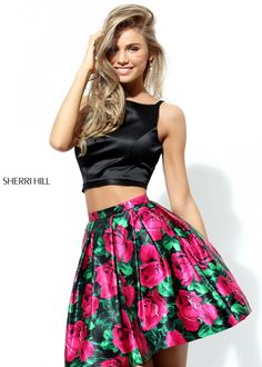 Sherri Hill 50582 Two Piece Floral Party Dress