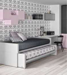Bedroom ideas Teen Bedroom, Bedroom Wall, Bedroom Ideas, Kids Decor, Diy Home Decor, Room Decor, Bed Design, Space Saving Furniture, Home Furniture