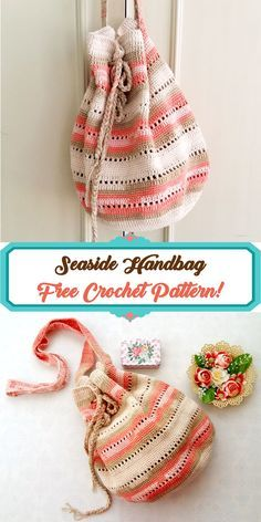 Try this super easy and free crochet handbag pattern. The seaside handbag pattern is very straight forward yet so elegant and suitable for any summer trip outfit. #crochet #handbag #freepattern #crochetpattern