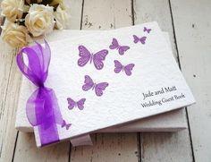 Butterfly wedding guest book